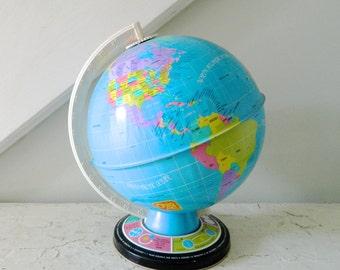 Vintage World Globe Ohio Art Toys Educational Globe