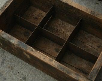 Vintage Wooden Shelf, Small Wooden Shelf, Knick Knack Holder, Spring Centerpiece, Primitive Box
