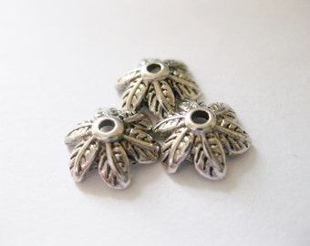 Antique Silver bead caps 11x10x5mm 200pcs Jewelry Findings