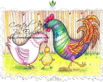 Chicken Family Love