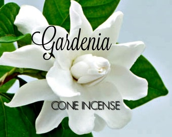 Cone Incense, Gardenia Incense, Incense Cones, 3 inch Wood Cones, Fresh Incense, Hand made Incense, Pack of 15 Cones