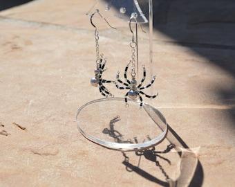 Swarovski Crystal Pearl Spider Earrings