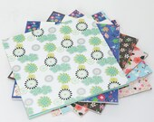 24 Sheets Gorgeous Floral Origami Square Paper Pack for Origami Paper Project - 15cm x 15cm