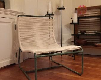 Original Walter Lamb Sleigh Lounge Chair Brown Jordan