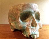 Ceramic Stoneware Skull Mug by Tony Furtado Mossy Marble
