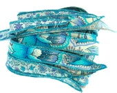 Floral Silk Bracelet Ribbon, W544