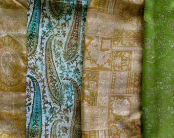 Fat Quarters, Silk Fabric, Sari Silk FQ162