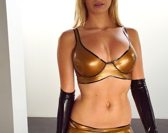 Latex bra and panty