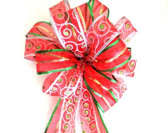 Christmas Bow / Red and Green Bow