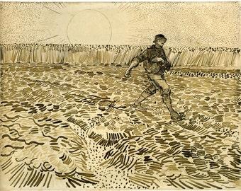 Van Gogh Reproduction.  The Sower by Vincent van Gogh, Fine Art Print.