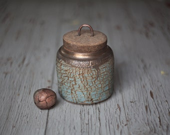 Storage box jar with cork