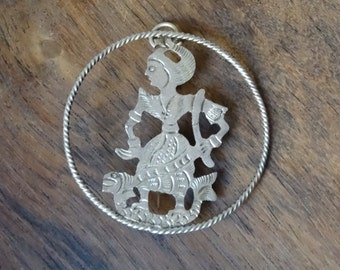 Ramayana Brooche or Pendant