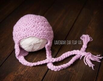 Newborn hat purple ready to ship Photography Prop RTS