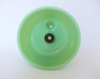 Jadeite Mixer Bowl Attachment Juicer Vintage Green Milk Glass