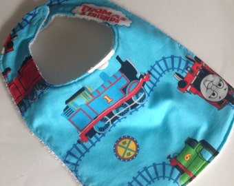 Baby bib, Thomas the train bib, Train bib, Thomas the Tank Engine baby bib, Thomas the train baby bib, baby boy bib, Baby boy shower gift.