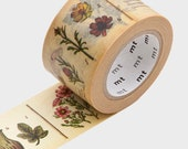 SALE - 30mm Wide Washi Tape - Botanical themed Plant Flower Washi Tape, MT Tape, Masking Tape, Paper Tape