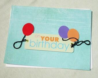 Handmade On Your Birthday Greeting Card