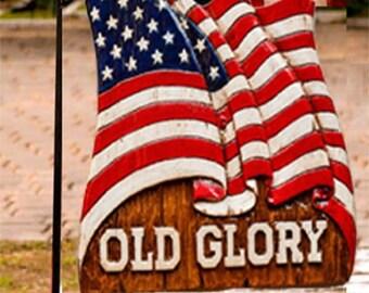 Patriotic Flag Yard Sign