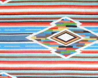 Southwest Flannel Fabric - Bright Diamond Stripe - 29 inches