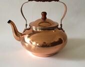 Vintage UNUSED Copper Tea Kettle, Copper, Copper Tea Pot, Pure Copper
