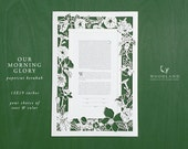 papercut ketubah | wedding vows | Our Morning Glory