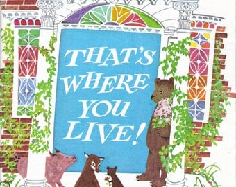 That's Where You Live! Vintage Whitman Tell a Tale Book by Mary Prescott Vogels Illustrated by Betty Fraser