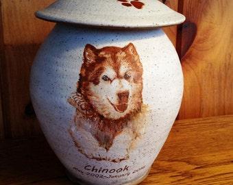 Dog Urn Custom Pet Urn with Image Various Sizes