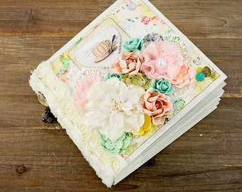 Make this Album! Cafe Au Lait Mini Shabby Chic Mini Album by Prima Marketing designed by Frank Garcia
