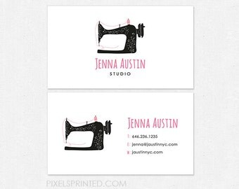 sewing/tailor DELUXE business cards - thick - glossy or matte - color both sides - FREE UPS ground