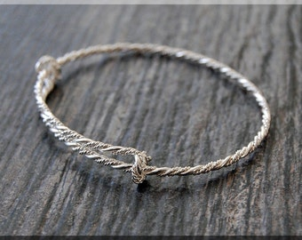 Sterling Silver Twisted Expandable Bangle Bracelet, Sterling Silver Bangle, Adjustable Bangle, Bracelet, Handmade Twist Bangle Bracelet