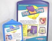 Combo Tidy Tray Set - Large and Small Glitter and Powder Trays
