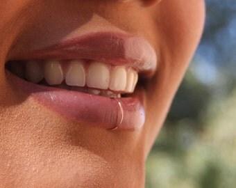 Fake Lip Ring - Lip Ring - Gold Fake Lip Piercing - Fake lip Cuff - Fake Piercing- Faux Lip Ring - Silver Fake Lip Ring-   Gold Lip Ring