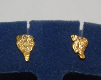 Natural Real 22K Gold Nugget Earrings