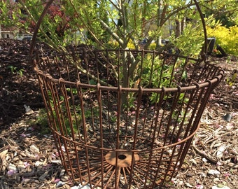 Vintage RUSTY EGG BASKET Extra Large