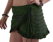 SALE  - PIXIE SKIRT, elf skirt, psytrance mini skirt, goa Skirt, wrap Skirt, Elf Mini Skirt, Mfskmy