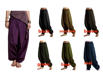 Harem pants, ASSORTED COLOURS, yoga trousers, mens harem pants, yoga pants, harem Trousers, aladdin pants, Catrlc