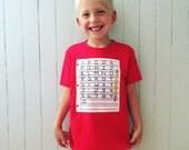 Paper and Pencil Children's Back to School Outfit Preschool Kindergarten First Day of School Shirt School Uniform ABCs Alphabet Number Shirt