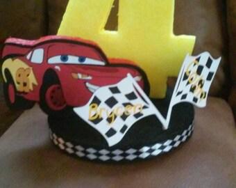 DISNEY CARS PARTY birthday cake topper