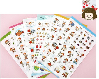 Diary Scrapbook Deco Sticker Label Red Riding Hood