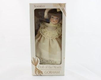 Vintage 1983 Gorham Doll of the Month November
