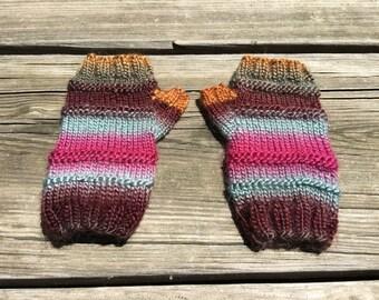 Women's Ribbed Fingerless Gloves