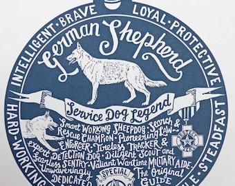 German Shepherd Print