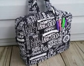 Zippered Bible Book of scriptures tote bag Made to Order