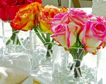 Glass Vase Wedding Centerpiece (SINGLE VASE)