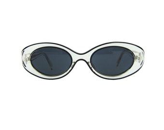 EYEVAN Japanese Sunglasses Clear& Black Lucite Frames