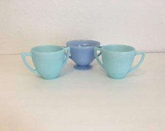 Vintage Pyrex Cups, Pyrex Sugar Bowls, Vintage Pyrex Delphite, Vintage Bluebell Pyrex, Pyrex Lot
