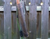 Classic Leather Quiver - Archery Quiver, Back Quiver - Dark Brown