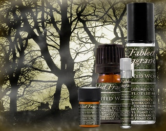 HAUNTED WOODS Cologne: Halloween Forest, Spanish Moss, Green Note, Celery Seed, Vegan Solid Perfume, Ships Out in 4-7 Days
