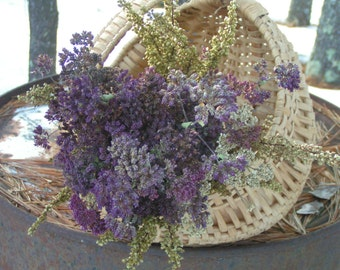 Natural, Air Dried and Garden Grown Oregano Flowers, Yarrow and Roman Artemisia Bouquet***Chemical Free for Home and Wedding Decor