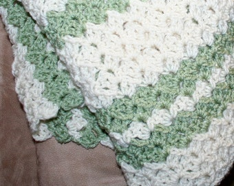Crochet Blanket Pattern Easy Throw Pattern Child / Adult Textured Reversible 3 sizes ~ Guide for using your favorite size hook PDF